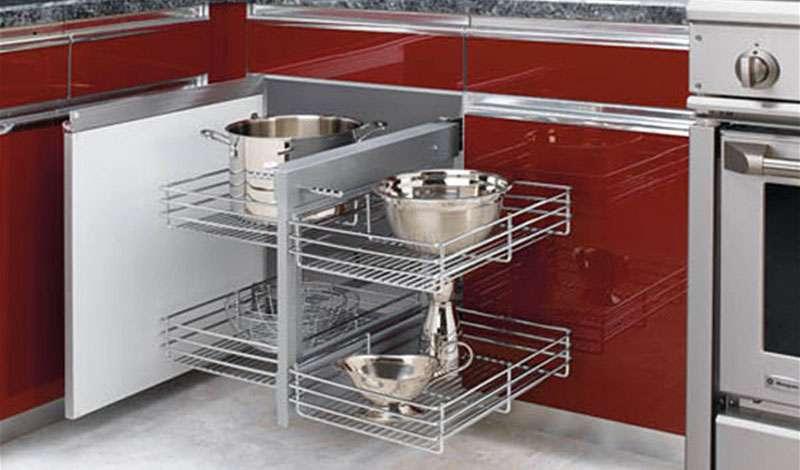 угловая система хранения посуды